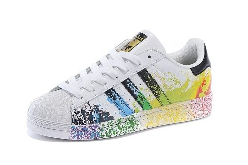 Tenis adidas Superstar Originals Paint Pride Back