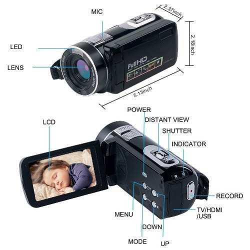 Videocámara Digital Zoom Hd Vision Nocturna Vlogging
