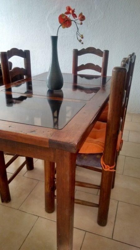 Comedor de madera rustico