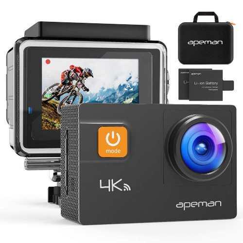 Apeman Action Camera 4k 20mp Wifi Ultra Hd Underwater
