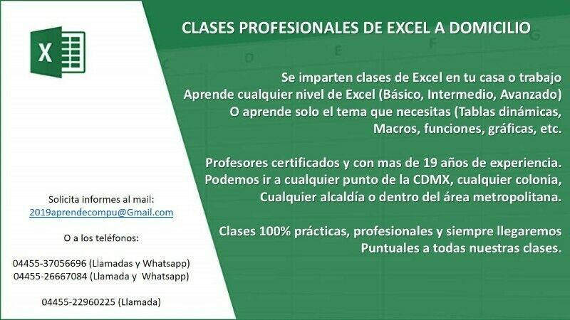 Aprende Excel en tu casa o trabaho