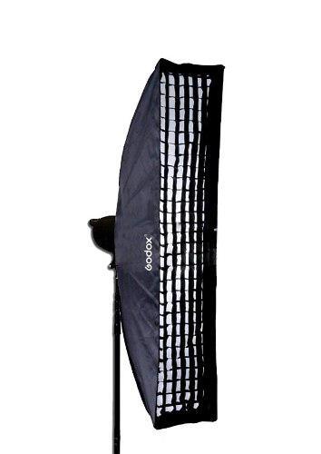 Caja De Luz Softbox Godox Para Bowens 35 X 160 Cm Con Grid