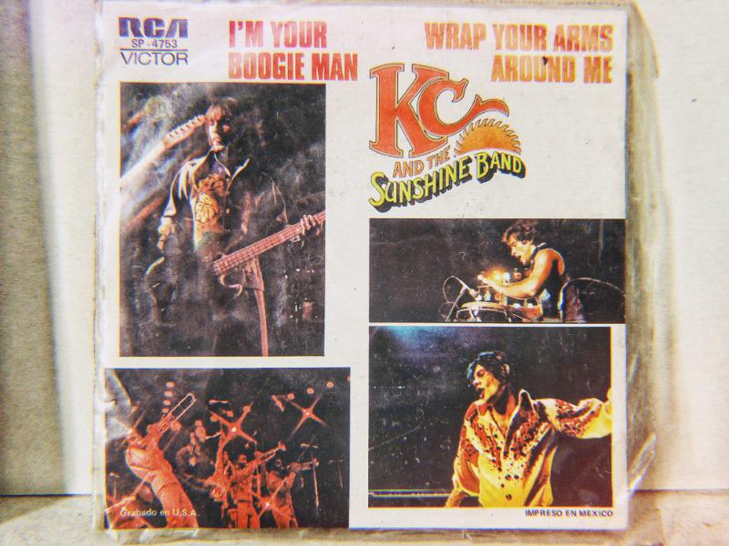 Disco EP vinil acetato 45 rpm kc and the Sunshine band I'm