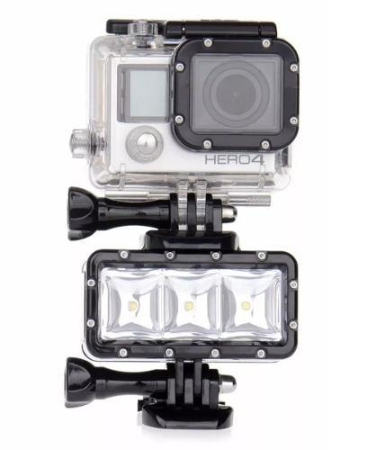 Doble Batería Lampara Led Sumergible Para Gopro 3 4 5 6 7