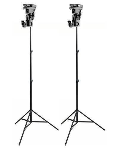 Kit 2 Brackets Soporte P/flash Y Sombrilla + 2 Tripies Linco