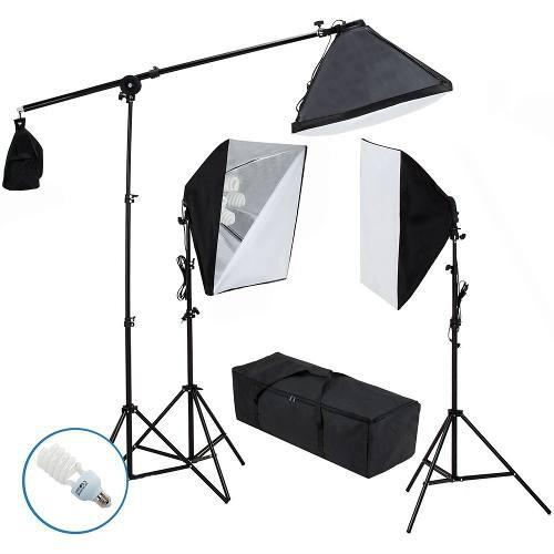 Kit 3 Softbox Iluminación Continua Estudio Fotografico