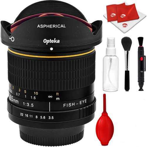 Lente Opteka 6.5mm F/3.5 Hd Gran Angular Fisheye Nikon