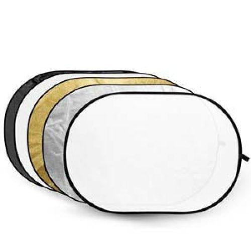 Reflector Rebotador 5 En 1 De 120 X 80 Cm Ovalado Godox