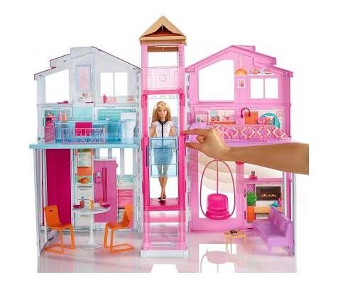 Barbie Casa De Campo Con Elevador Y Amueblada 90x60cm Mattel