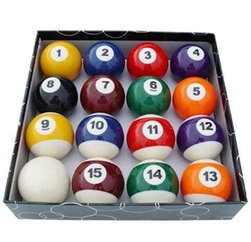 Juego De 16 Miniaturas Pequeñas Bolas De Billar Billar 1