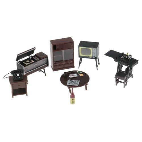 Kit De Muebles En Miniatura Para Sala De Estar De Muñecas