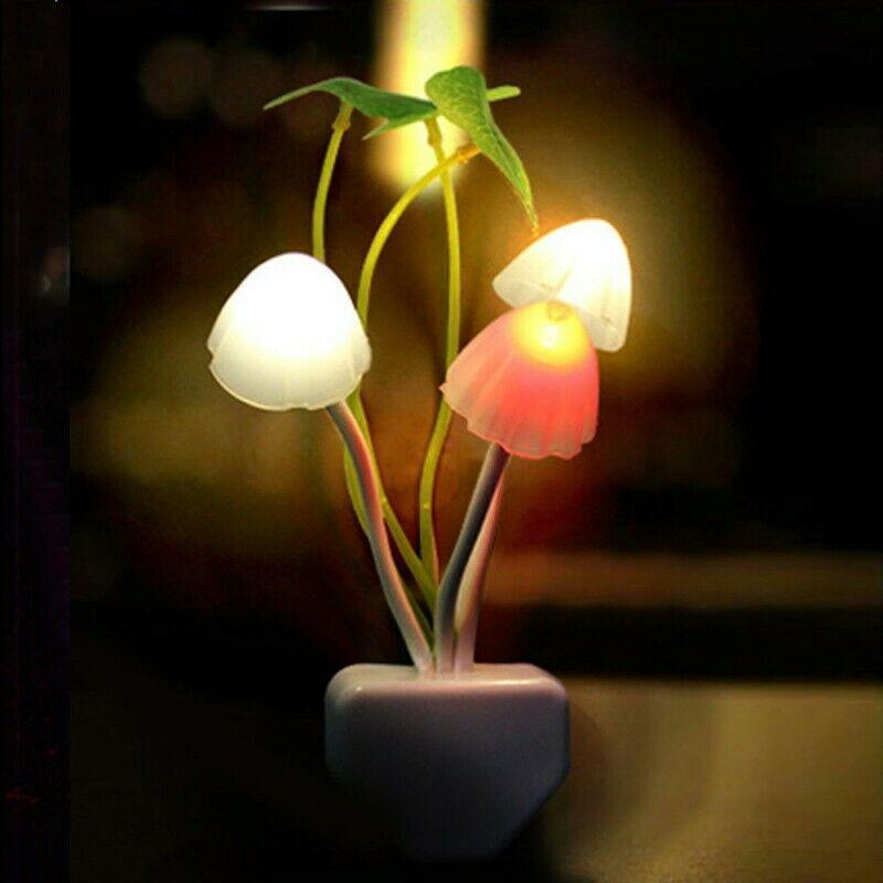 Lampara Enchufe Led Hongos Con Sensor Inteligente Focos