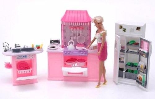Mueble Para Casa De Muñecas Barbie Cocina Mediana  Full