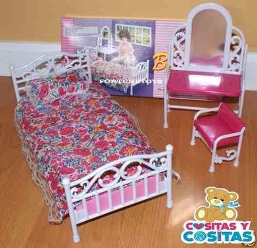 Mueble Para Casa Muñeca Barbie Recamara Sencilla  Full