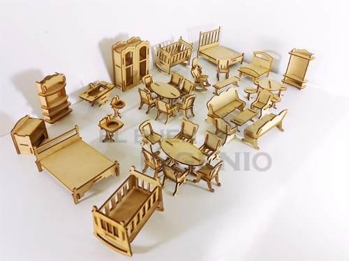 Muebles Para Casa De Muñecas Mini 40 Piezas Para Casa De