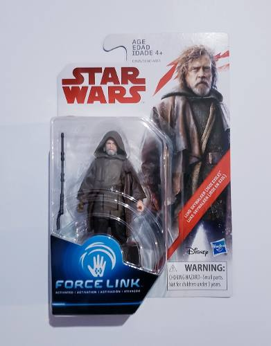 Muñeco Star Wars Force Link Luke Skywalker Jedi Exile !!