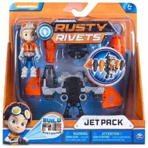 Oferta Muñeco Rusty Rivets + Jet Pack Grande Articulado *
