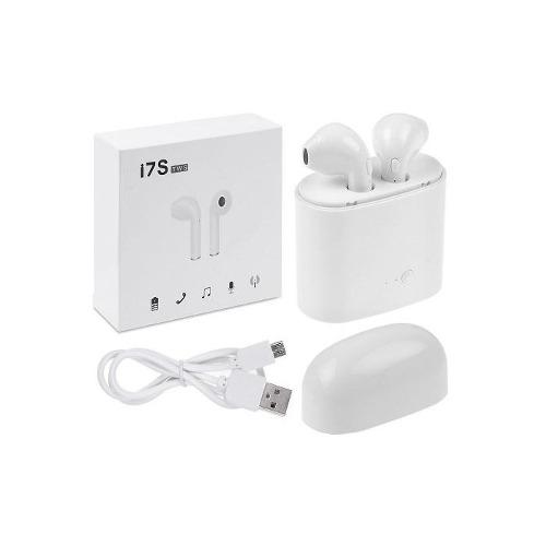 Audifonos Inalambricos Bluetooth Earbuds I7s Tws Blancos