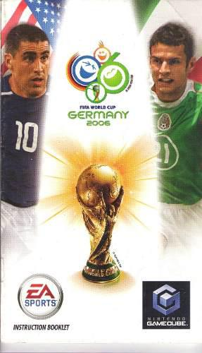 Fifa World Cup 2006 Germany Gamecube Solo Manual Game Cube