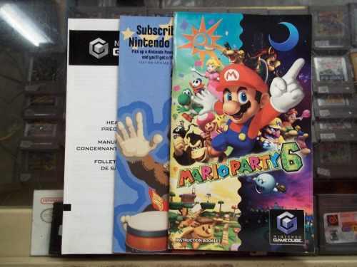 Mario Party 6 Solo Manual O Instructivo Nintendo Game Cube