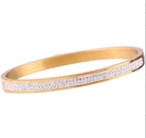 Brazalete Pulsera Swarovski Elements Chapa Oro Envío Gratis
