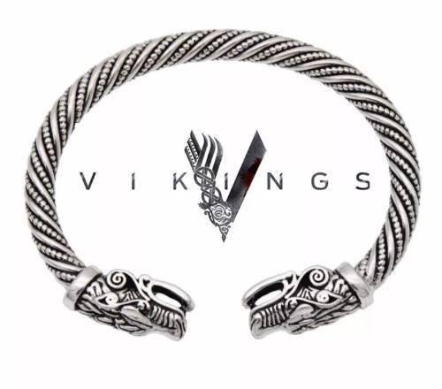 Pulsera Brazalete Serie Vikings Acero Ragnar Nordico Unisex