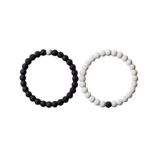 Pulsera Lokai Paquete De Blanco Y Negro Equilibrio Yin Yan