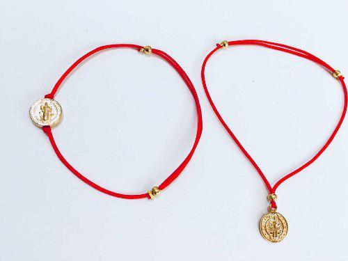 Pulsera Medalla San Benito Recuerdo Bautizo Xv Años Mayoreo