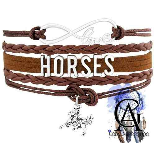 Pulsera Vaquera Dije Love Horses Caballo