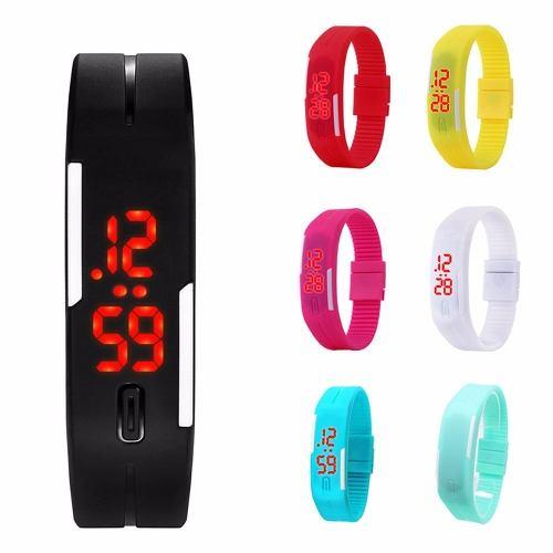 Reloj Led Digital Silicon Colores Unisex Deportivo Economico