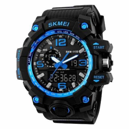 Reloj Skmei  Hombre Deportivo Hora Dual + Estuche