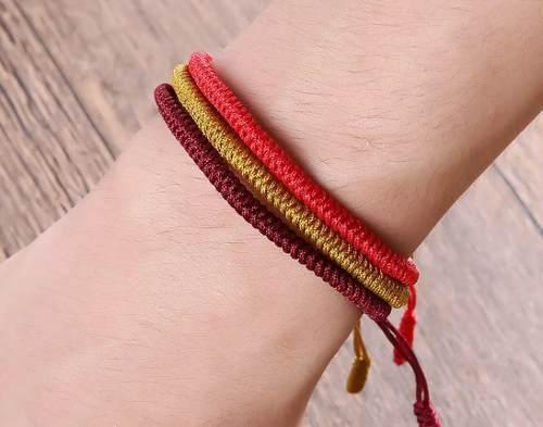 Set De Pulseras Tibetanas, Varios Colores Incluye 3 Pulseras