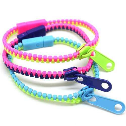 Zipper, Lote 12 Pulseras Zipper, Bisuteria