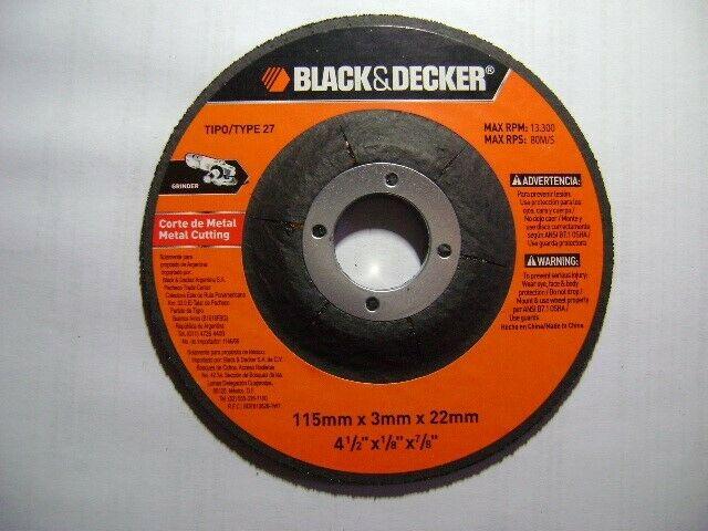 "Disco p/Corte de Metal 4 1/2"" Black & Decker"