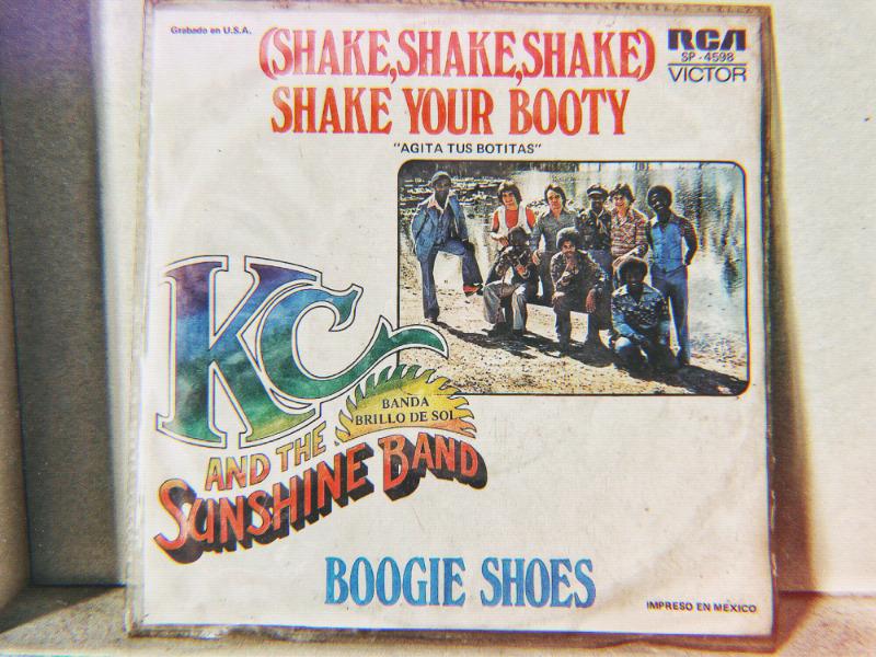 Disco vinil acetato EP 45rpm Kc and the Sunshine band shake