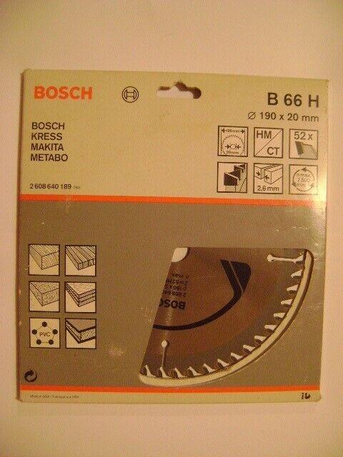 Hoja de sierra circular BOSCH de 190mm, nuevo