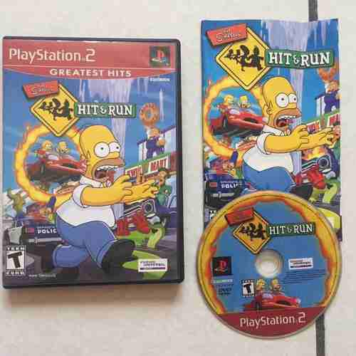 Los Simpsons Hit And Run Juegazo Para Tu Ps2 Chécalo