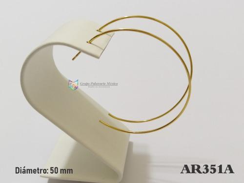 Media Arracada 50mm Acero Dorado