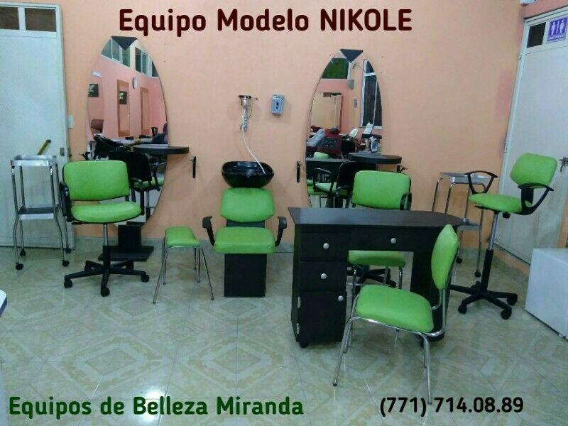 Muebles Equipos Belleza Barbería