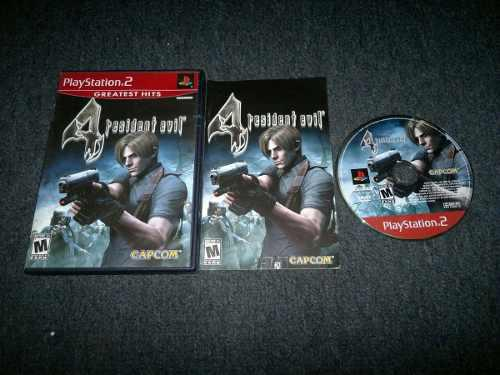 Resident Evil 4 Completo Play Station 2,excelente Titulo.