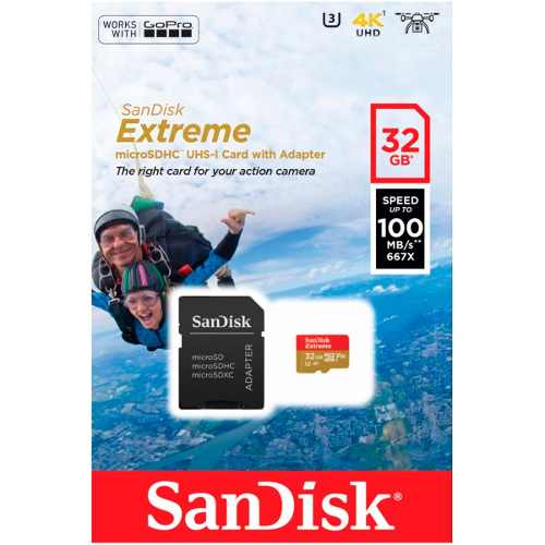 Memoria Micro Sdhc 32gb Sandisk Full Hd Clase 10 Video 4k
