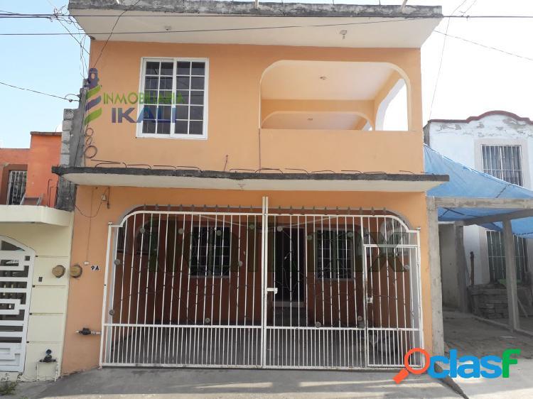 Renta Casa 2 habitaciones Col. Bella Vista Poza Rica