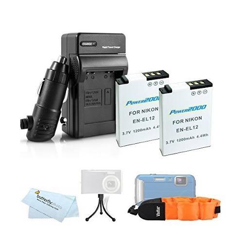2 Batería Y El Cargador Kit Para Nikon Coolpix Aw120,