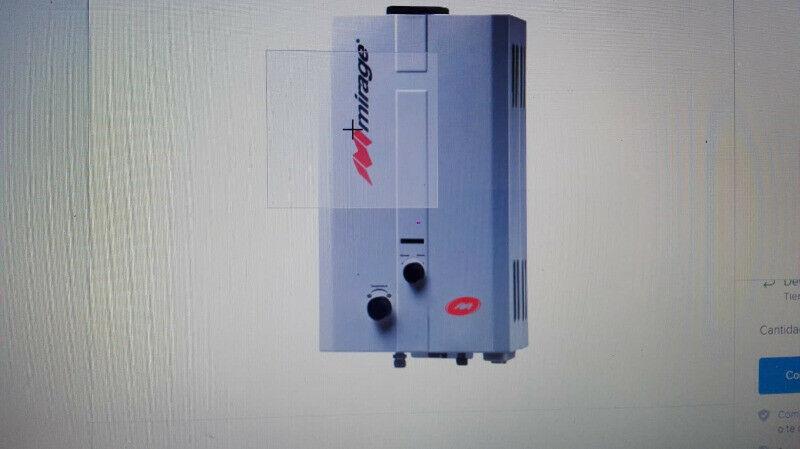Boiler de gas Mirage modelo Flux de 6 lt. NUEVO