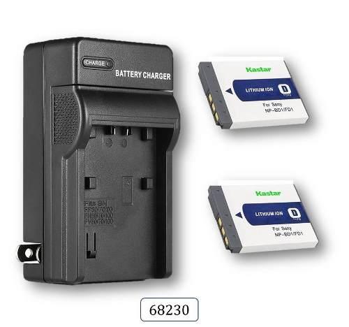 Cargador + 2 Baterias Mod.  Para Sony Cybershot Np-bd1