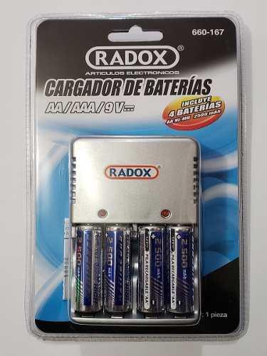 Cargador De Baterías Para Aa, Aaa Y 9v Incluye: 4aa
