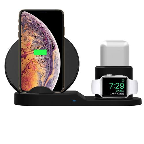 Dock 3 En 1 Carga Iphone Apple Watch Airpods Carga Rapida