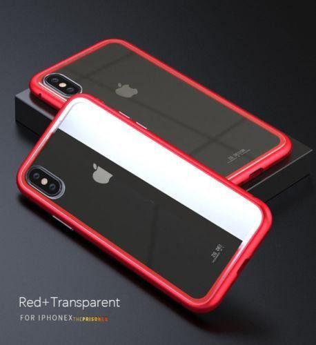 For Iphone 7 - Red+transparent - Para El Iphone X 7/8 P-3298