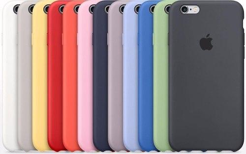 Funda Apple Iphone Silicon 6 7 8 X Xr Max Xs +mica Vidrio