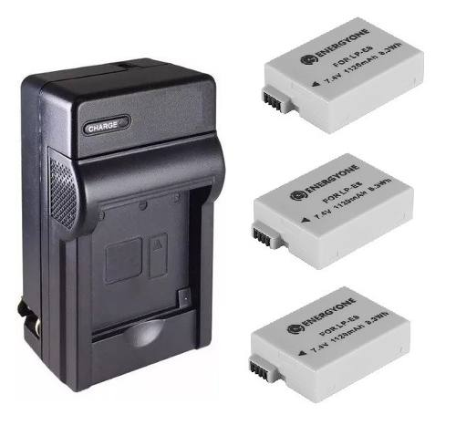 Kit Cargador + 3 Baterias Lp-e8 Para Canon T2 T2i T3i T5i